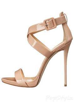 Giuseppe Zanotti Cross-Strap Italian Leather Dress Sandal