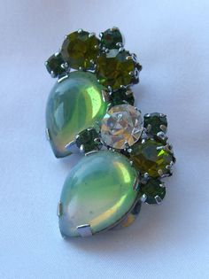 Vintage Givre Earrings Marked AUSTRIA Retro by BuyVintageJewelry