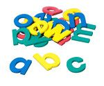 Foam Fun Lowercase Letters - Four colors make this set playful and entertaining. 70 letters total: 6 each a & e; 5 each i; 4 each h, o, s; 3 each n, r, t, u; 2 each b, c, d, f, g, j, k, l, m, p, v, w, y; 1 each q, x & z plus punctuation. Magnets are 1 to 2 inches tall, and sets are packed in a handy storage bucket with illustrated booklet.