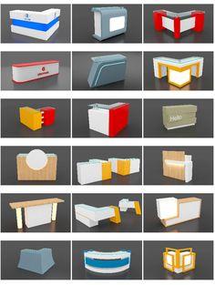 Reception Table Office Counter Design, Reception Counter Design, Modern Reception Desk, Office Table Design, Web Banner Design, Plateau Tv, Module Design, Exhibition Stall Design, Pharmacy Design