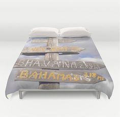 https://www.etsy.com/listing/210540615/beachy-duvet-cover-seaside-cottage-sign  -- Beautiful products like this can be custom made for you by our members at http://DigiColorCreations.com.
