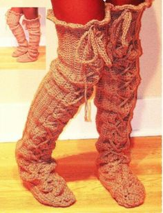 Crochet Pattern Boots number 65 Sexy Slouch Lace Up by winterolive, $5.00
