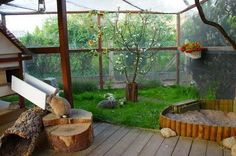 This would be such a cool thing to do to a sun porch for the dogs and rabbit!