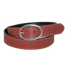 Womens Reversible Leather Bridle Belt. Nickel buckle. Made in the USA. $37.95