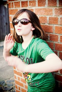 Abigail, my eldest daughter, 10 with all kinds of attitude!