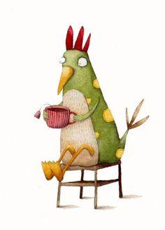 Oh ya the funky chicken...