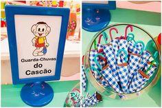 Guarda-chuvas do Cascão - Turma da Mônica Happy Birthday B, Birthday Cake, Birthday Parties, Malu, Childrens Party, Picnic, Alice, Entertaining, Creative