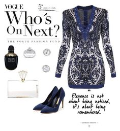 """Dark blue power"" by bibi-bianca-1 on Polyvore featuring Balmain, Rupert Sanderson, Charlotte Olympia, Kobelli and Alexander McQueen"