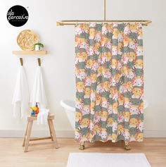 - Fits most standard size tubs and showers  - 12 button holes (shower hooks not included)  - Liner not included - Made from 100% Polyester  - Vivid, full color print on front, white on back  🔹💜 #weperceivestyle #showercurtain #bathroomideas #bathroomdecor #bathroomstyle #bathroomstyling #bathtime #bathtimefun #showertime #axolotls #axolotl #walkingfish #illustrationdesign #graphicillustration #axolotllove #axolotllover #patterndesign #patternlove #designforliving #designlovers…