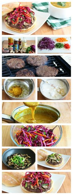 Five Spice Burgers With Curry Sauce