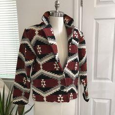 SALE - 1990s - Vintage Navajo Print - Vintage Jacket - Blanket Jacket by mslonelyheartvintage on Etsy