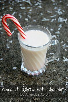 A twist on a delightful winter recipe - Coconut White Hot Chocolate