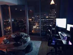 My cozy gaming spot in the city : CozyPlaces - Gamer House Ideas 2019 - 2020