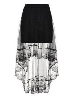 Sexy Women Mesh Sheer Solid Fake Two-piece High Low Maxi Skirt - Newchic Plus Size Bottoms