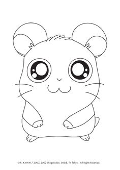 Illustration du petit hamtaro panda, à colorier