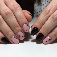 Spring+nail+art,+Spring+nail+ideas,+Two+color+nails,+Two-color+shellac+nails