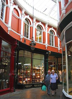 The Royal Arcade, Cardiff, Wales Copyright: Joan West