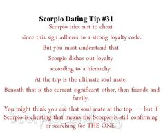 Scorpio Dating Tip #31: What to do when your Scorpio is a cheating, manipulative …(rhymes with witch or castard) |