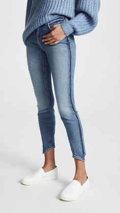 eecffbddccf 7 For All Mankind Luxe Vintage Ankle Skinny Jeans with Angled Seams