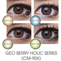 GEO Berry Holic Circle Lens. Berry Holic series circle lenses come in 8 captivating shades, each embedded with a subtle starburst pattern to give eyes a new depth and dimension of color.Authentic Korean circle lenses, circle lens, colored contacts, color contact lens, big eyes, cosmetic contact lenses, novelty contacts. #bigeyes #prettyeyes, #koreanstyle, #eyes, #makeup, #koreanbeauty, #makeup, #asian, #asiangirl #koreanmodel #koreangirl #circlelens #circlelenses #colorcontacts…