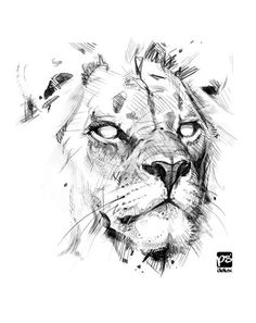 *sketches traditional and digital Animal Sketches, Art Drawings Sketches, Tattoo Sketches, Animal Drawings, Tattoo Drawings, Body Art Tattoos, Sketch Drawing, Lion Flower, Lion Sketch