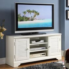Beachy Den Riverside Splash Of Color 50 In Tv Console Stand Decor