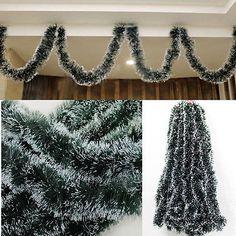 Christmas Green Ribbon Decoration Xmas Tree Ornaments Home Party Holiday Decor
