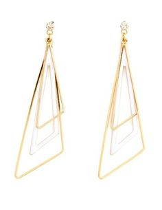 LAYERED GEOMETRIC DANGLE EARRINGS