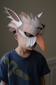 Gryphon mask, painted.