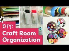 Easy and Simple DIY Craft Room Organization
