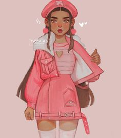 Yasmin from The Heartbreakers Club 💔in her different outfits: (swipe to change her look) Black Girl Cartoon, Black Girl Art, Black Women Art, Black Art, Cute Art Styles, Cartoon Art Styles, Fashion Design Drawings, Fashion Sketches, Art Drawings Sketches