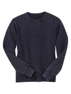 Brushed fleece crew | Gap