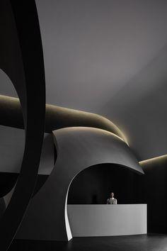Architecture People, Light Architecture, Amazing Architecture, Interior Architecture, Interior Design, Salon Pictures, Aesthetic Space, Stone Panels, Beauty Salon Design