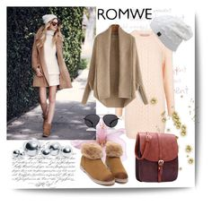 """""""Romwe 2"""" by aida-1999 ❤ liked on Polyvore featuring UGG Australia, blomus, Paul & Joe Sister and The Row"""