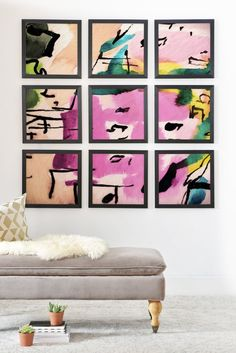 Ginette Fine Art Pink Twink Abstract Framed Wall Mural | DENY Designs Home Accessories