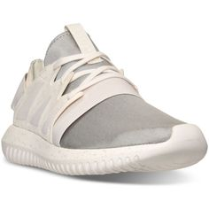 adidas Women's Originals Tubular Viral Casual Sneakers from Finish... ($100) ❤ liked on Polyvore featuring shoes, sneakers, chalk white, white mesh shoes, white low top shoes, white sneakers, low top and low profile sneakers