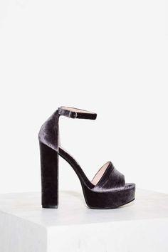 Horowitz Velvet Platform - Gray