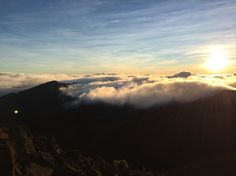 Haleakala Crater, Maui. 10,000 feet above sea level. Just clouds...
