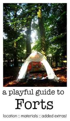 A playful guide to how to build a child's fort :: cool kids fort ideas :: forest…
