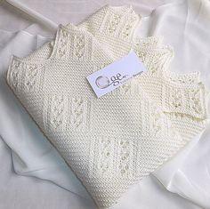 Quick knit baby blanket, christening shawl of prayer shawl