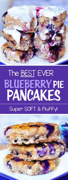There is ONE secret to making the fluffiest pancakes ever. These blueberry pancakes use baking powder