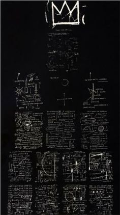 Tuxedo by Jean-Michel Basquiat, 1982. Neo-Expressionism, abstract painting. Technique: screenprint    Gallery: Tony Shafrazi Gallery, NY, USA
