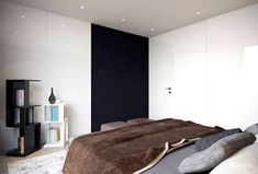 Spacious Bedroom Interior by Studio Tolicci modern style bookcases