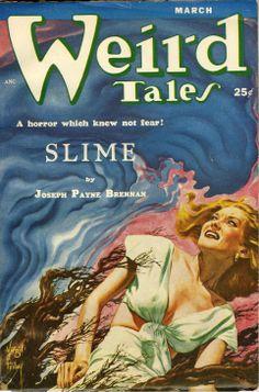 WEIRD TALES   vintage terror weird menace pulp fiction cover art