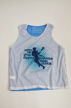Forget the glass slippers, this princess wears cleats! This great pinnie is an awesome girls lacrosse gift for your lax princess.