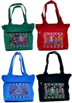 10 Cotton Ethnic Elephant Design Indian Rajasthani Style Tote Wholesale Lot Bags #Handmade #ShoulderBag