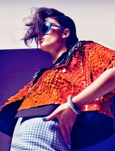 visual optimism; fashion editorials, shows, campaigns & more!: força urbana: crystal renn by dusan reljin for harper's bazaar brazil december #belolanow #orangefashion