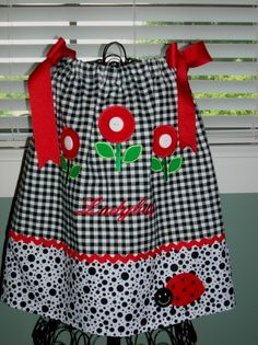 like the flowers with buttons  pretty pillow case dress