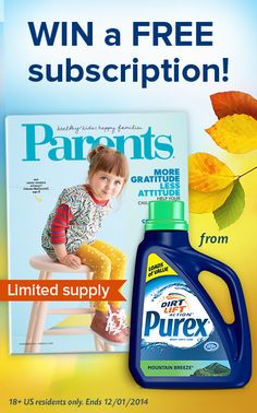 Who wants a FREE 1-year subscription to Parents Magazine? Repin and enter above!