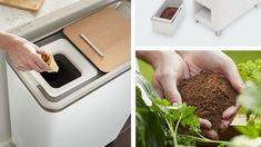 The creators of the Zera Food Recycler want to turn composting into a hands-free activity. Modern Kitchen Trash Cans, Composting Process, Garden Compost, Dry Leaf, Free Activities, Food Waste, New Kitchen, New Recipes, Baking Soda